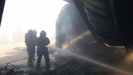 Los bomberos de la DPZ llevaron a cabo 2.564 servicios en 2016, casi la mitad por incendios