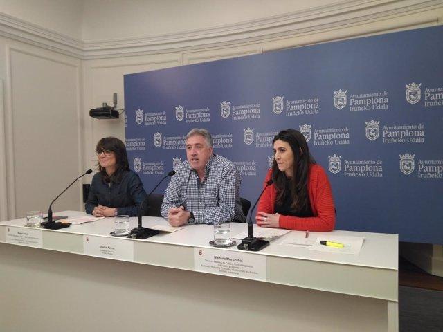 Beloki, Asiron y Muruzabal en la rueda de prensa