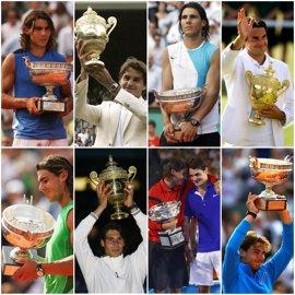 Nadal y Federer se cruzan en su novena final de un 'grande'