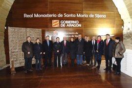 """Lambán: es """"un día histórico para Aragón"""" contemplar los bienes de Sijena en su lugar de origen"""