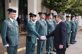 El director de la Guardia Civil se reúne con los responsables de las unidades de la Comandancia de Sevilla