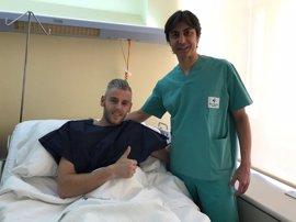 Miguelín, seis semanas de baja tras ser operado con éxito de su rodilla derecha