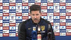 """Simeone: """"Para llegar a lo mejor hay que pasar siempre por Real Madrid o Barcelona"""""""