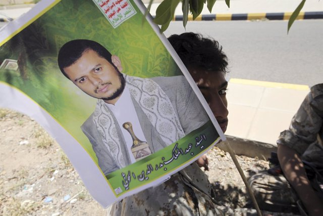 Cartel de Abdel-Malek al Huthi, líder de los huthis