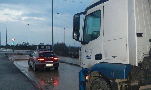 La Policía Foral imputa a un camionero por sextuplicar la tasa de alcohol