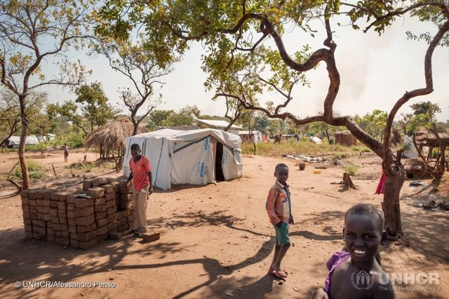 Refugiados sursudaneses en Bidibidi (Uganda)