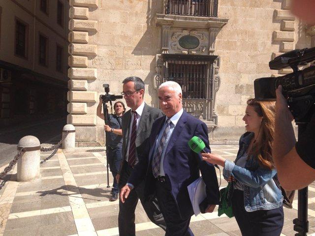 Luciano Alonso a la salida del TSJA