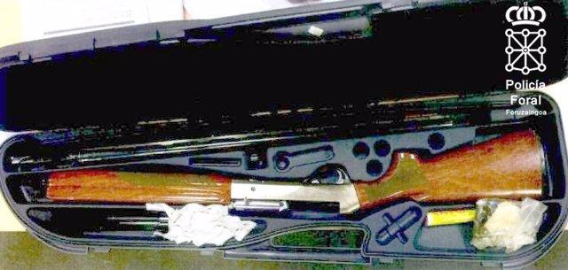 Escopeta utilizada en Barañáin