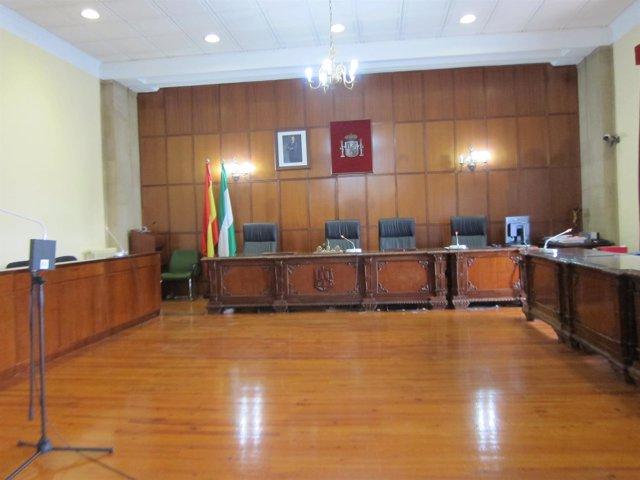 Sala de vistas de la Audiencia de Jaén