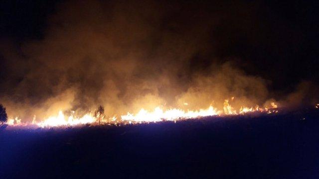 Incendio en es Miner Petit (Pollença)