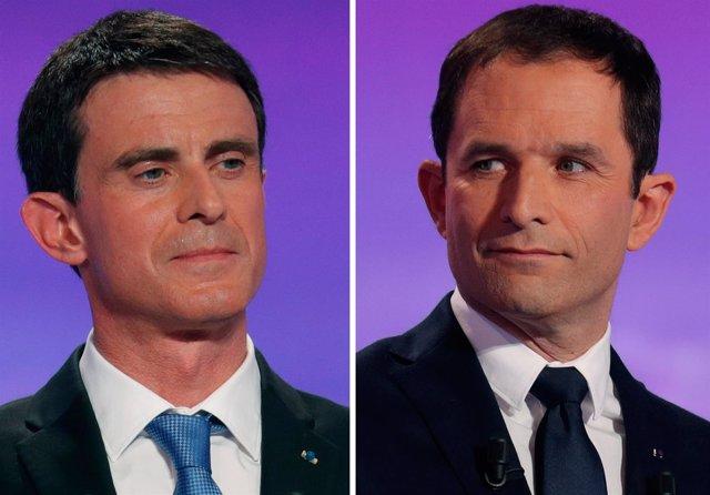 Manuel Valls y Benoît Hamon