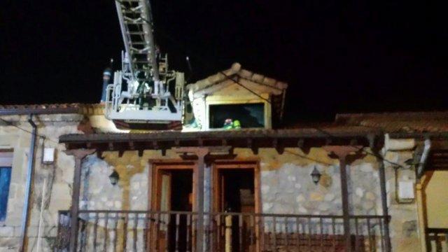 Incendio en una vivienda en Penagos