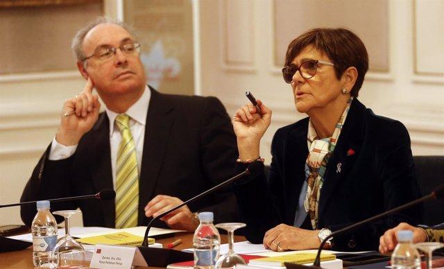 La presidenta de la Asamblea Regional, Rosa Peñalver