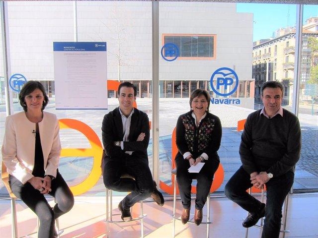Pablo Zalba y representantes del PP de Valencia, Baleares y Cataluña