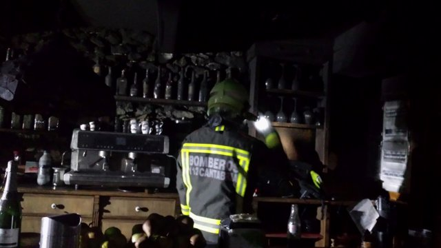 Incendio en un restaurante de Meruelo