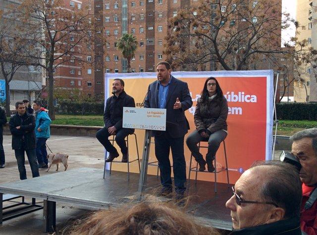 El vicepresidente de la Generalitat, Oriol Junqueras, y el concejal Alfred Bosch