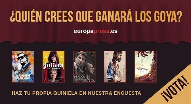 Votación premios Goya 2017