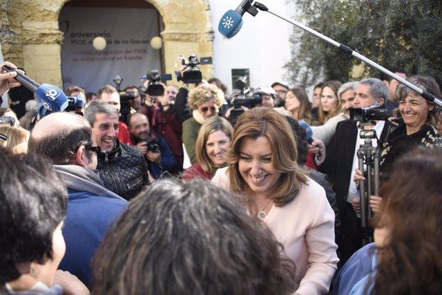 Susana Díaz en Alcalá de los Gazules (Cádiz)