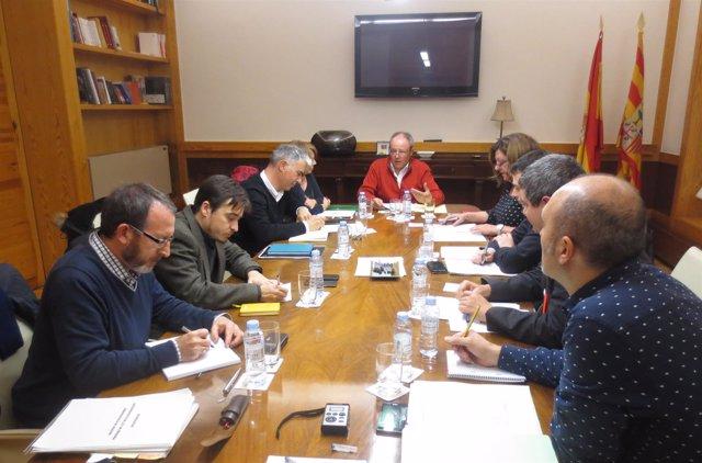 Reunión de la Comisión para redactar la Ley de Memoria Democrática.