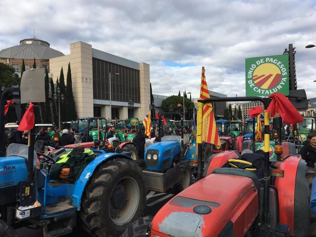 Tractorada en Barcelona