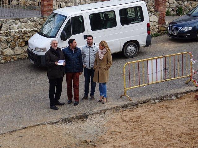 Del Cid, Oblaré, Martín García y Artacho visitan obras del PFEA en Colmenar