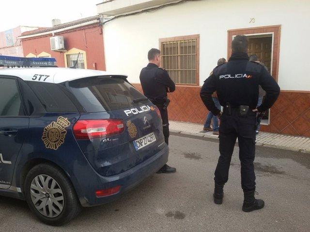 Actuación de la Policía Nacional en Linares (Jaén)