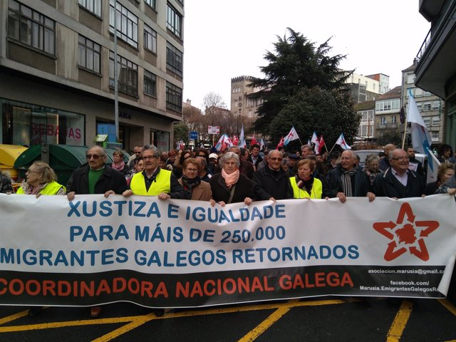 Manifestación en defensa de las pensiones