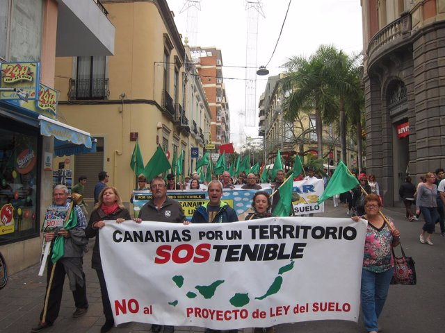 Manifestación contra la Ley del Suelo