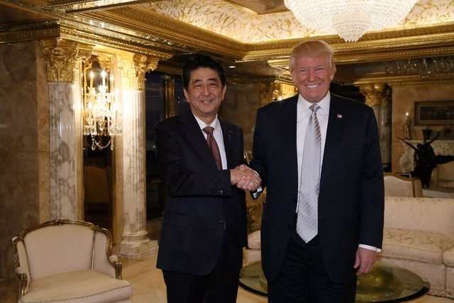 Shinzo Abe y Donald Trump