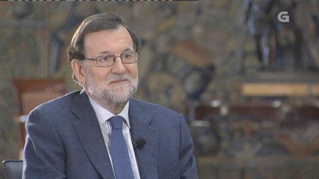 Rajoy en entrevista con la TVG