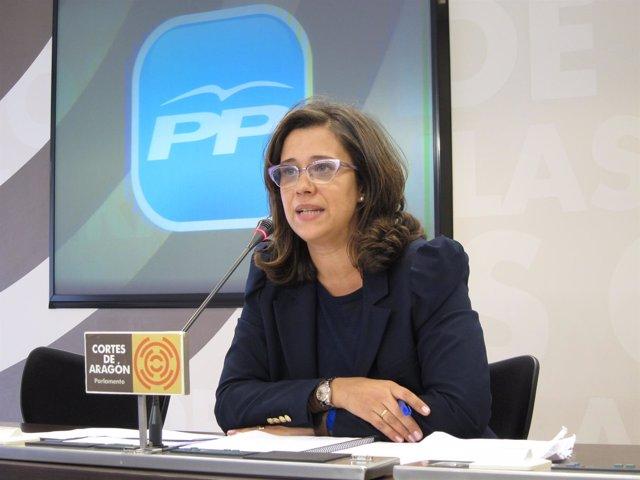 La diputada del grupo parlamentario del PP,  Marián Orós.