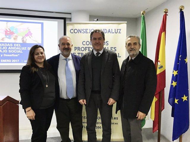 Clausura de Consejo Andaluz de Colegios Profesionales de Trabajo Social