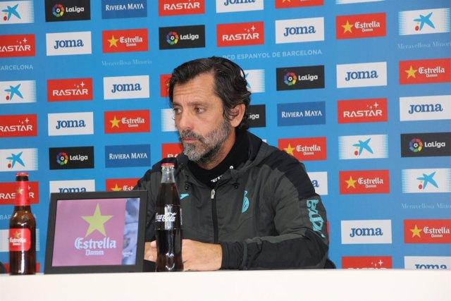 Quique Sánchez Flores en rueda de prensa
