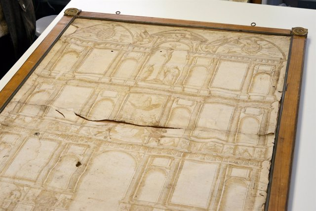 Pergamino del retablo de la iglesia de San Esteban