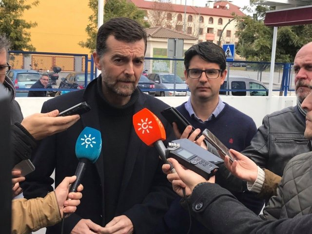 El coordinador general de IULV-CA, Antonio Maíllo, este domingo en Córdoba