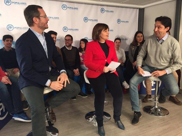 Isabel Bonig junto a Javier Maroto y Vicente Betoret