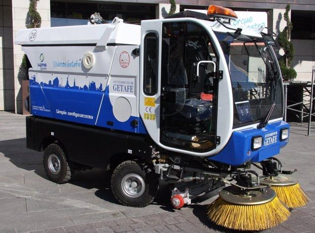 Barredora de la empresa municipal de limpiezas