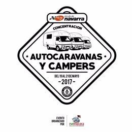 Cartel de la concentración de autocaravanas en el circuito Los Arcos