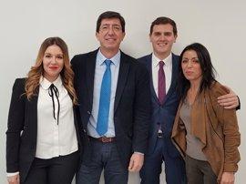 La nueva Ejecutiva de C's incluye a los andaluces Juan Marín, Raquel Morales y Marta Bosquet