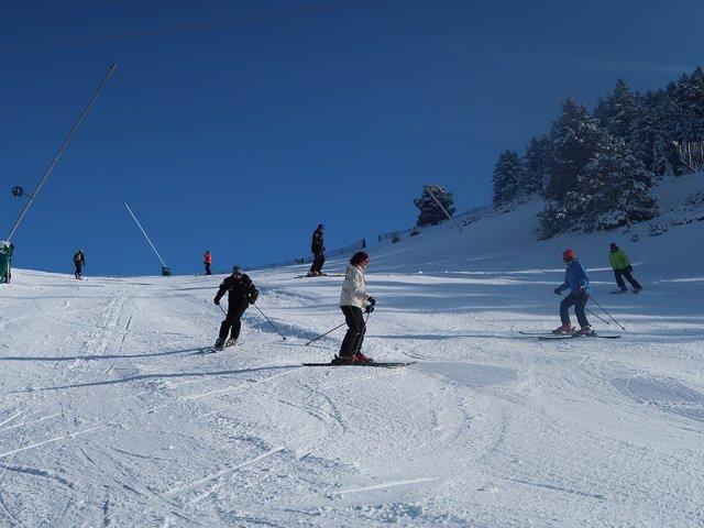 Esquiadores en Masella, esquí, invierno