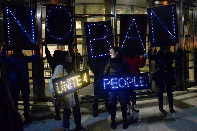 Manifestación contra la orden ejecutiva de Donald Trump