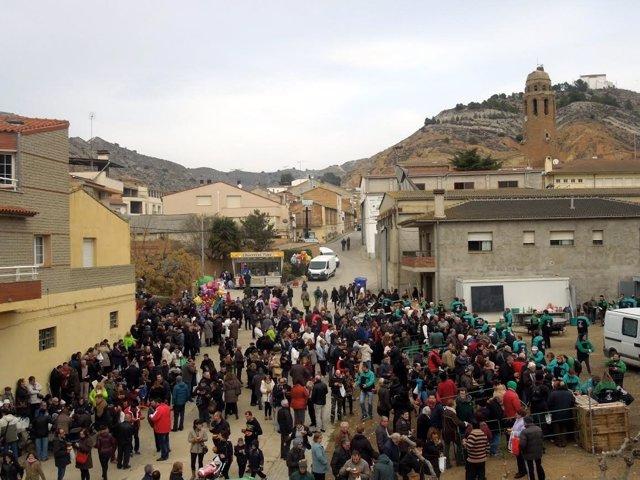 Festa del Tossino en Albelda.