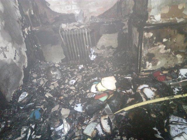 Incendio en la sacristía de la iglesia de San Miguel