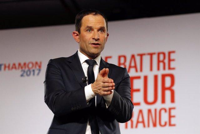 El candidato presidencial de la izquierda francesa, Benoit Hamon