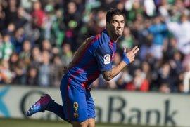Luis Suárez, con 16 goles, vuelve a destacarse en la tabla de goleadores
