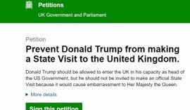 Más de un millón de británicos firman para que el Gobierno impida la visita oficial de Trump
