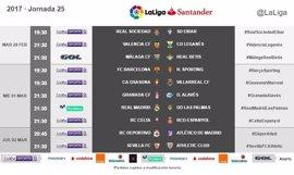 LaLiga Santander anuncia los horarios de la jornada 25