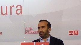 """Morales (PSOE) ve """"fundamental"""" que Rajoy se """"vuelque"""" con Extremadura en renovables, financiación y techo de gasto"""