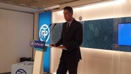 Albiol (PP) plantea llevar las cuentas al Consell de Garanties Estaturàries con el PSC y C's