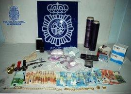 Dos detenidos en Alcázar de San Juan por portar 22,07 gramos de cocaína y 1.105 euros en efectivo